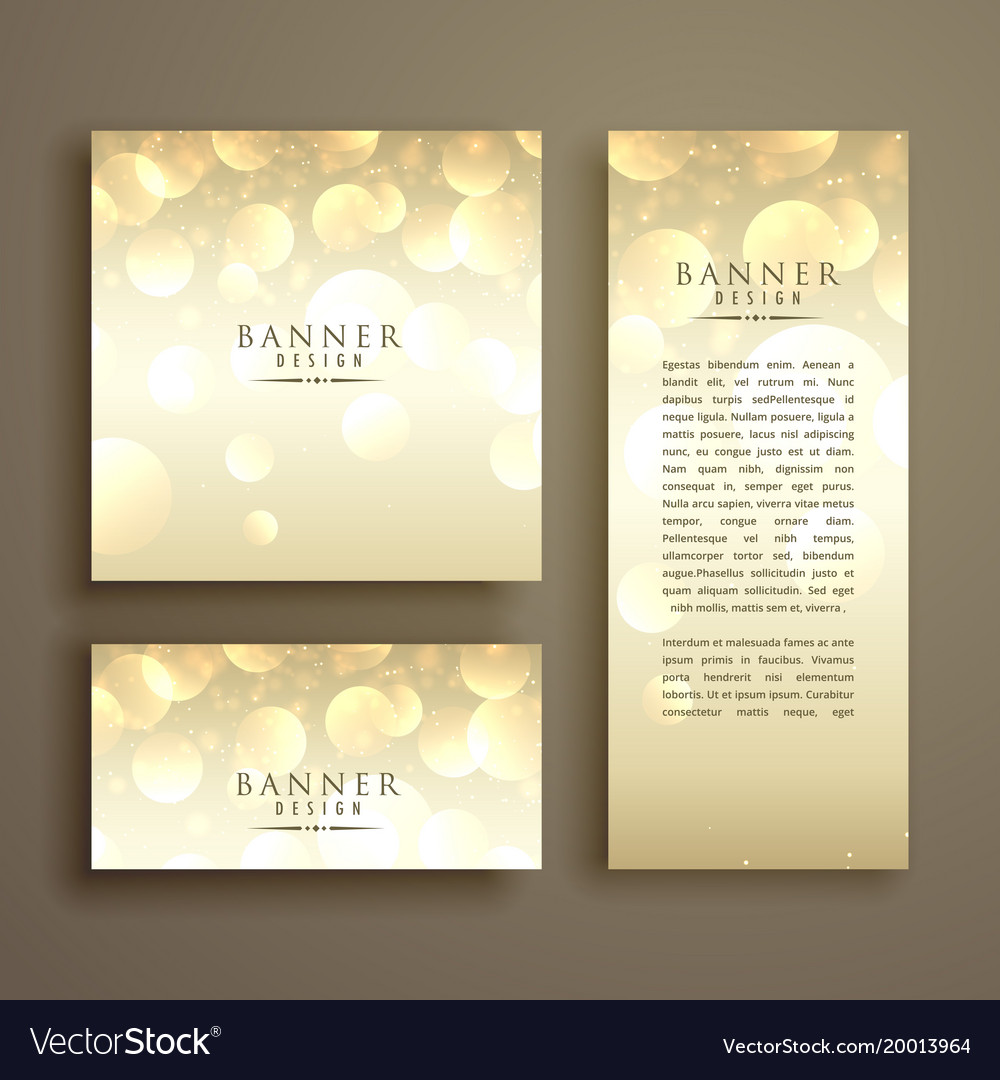 Shiny bokeh card design template vector image