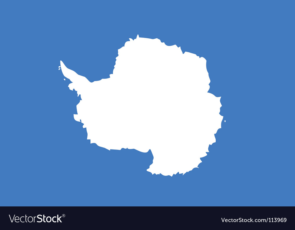 Antarctica flag vector image