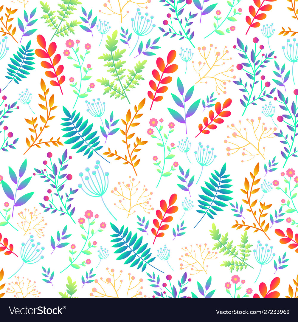 Artistic colorful field wild flowers seamless