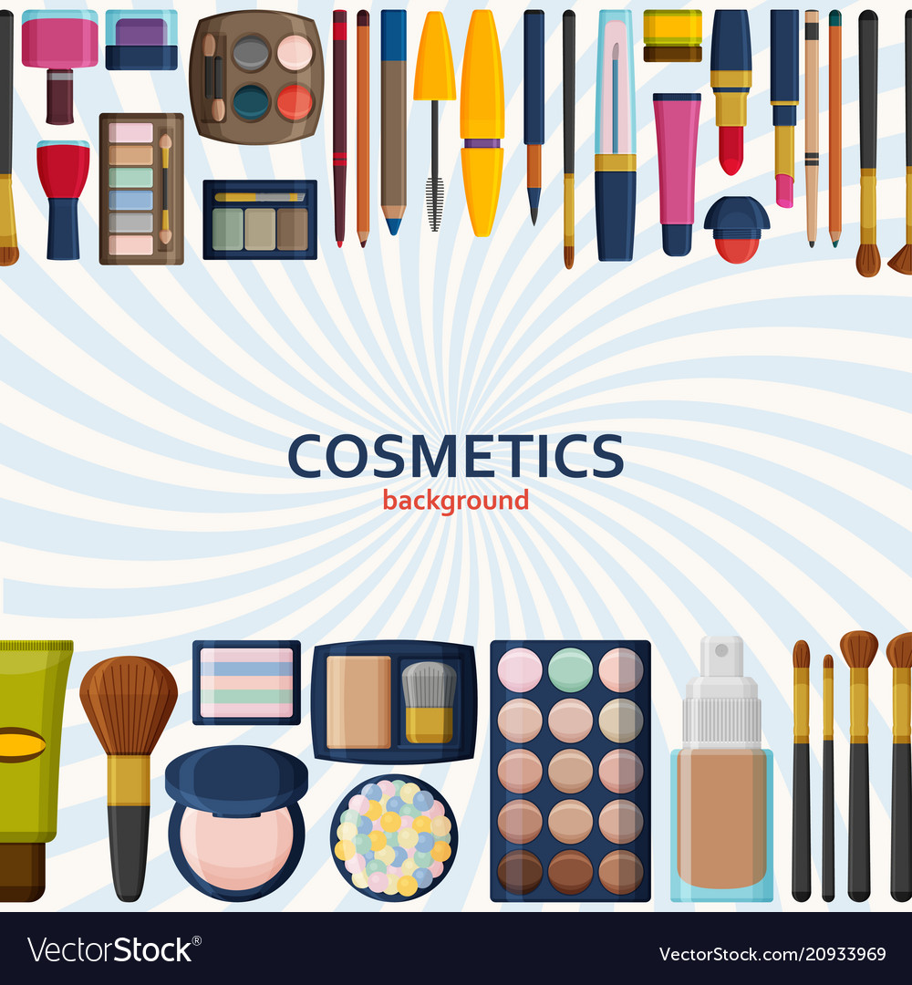 Decorative cosmetics for face lips skin eyes
