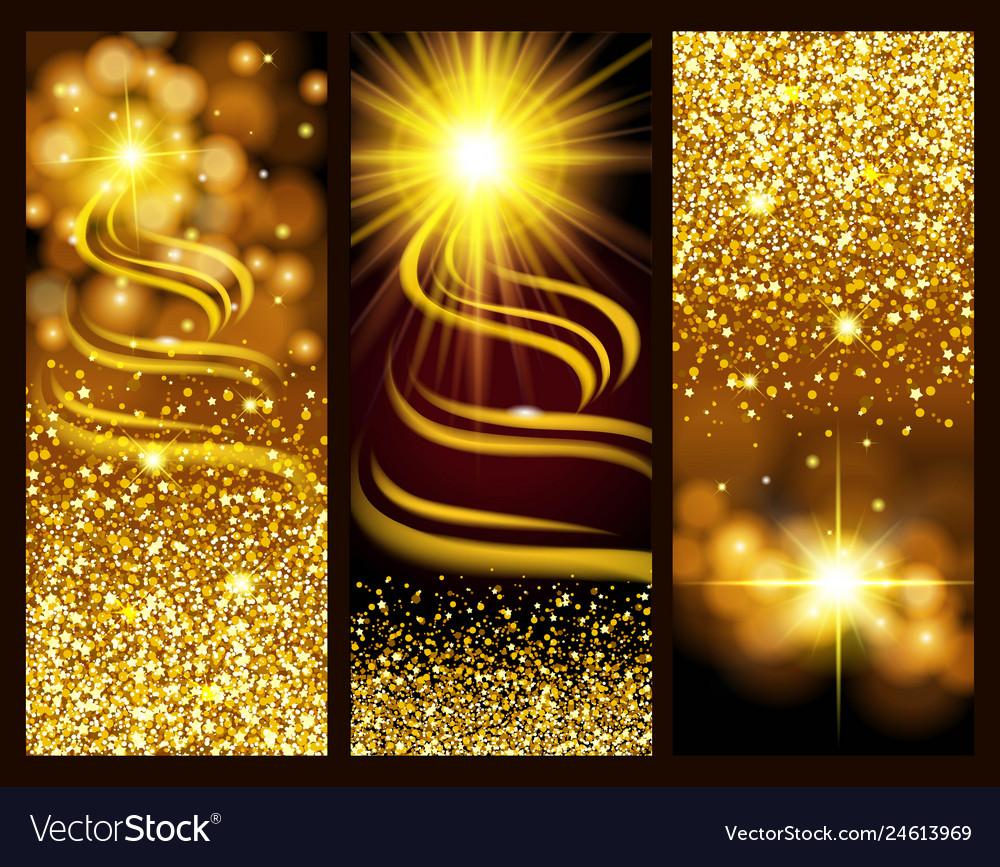 Gold dust glitter for design