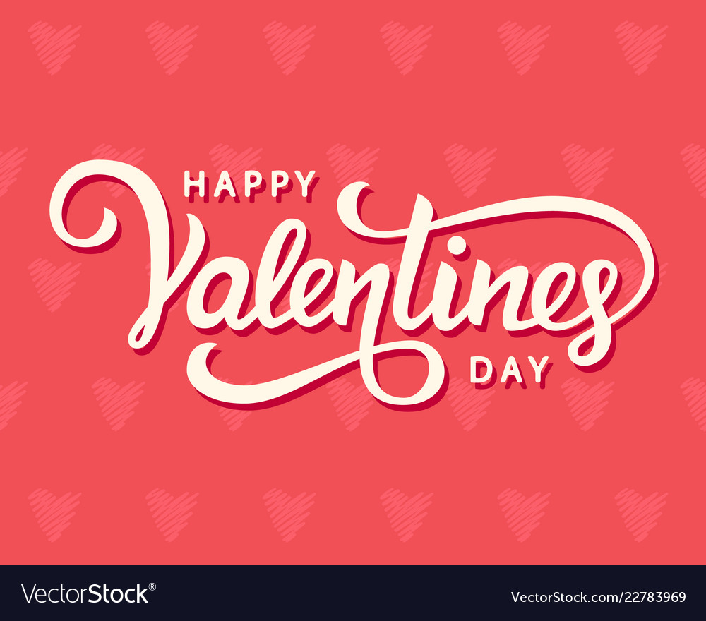 Happy Valentines Day Typography Poster Royalty Free Vector