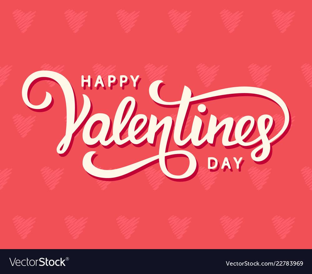 Happy valentines day typography poster