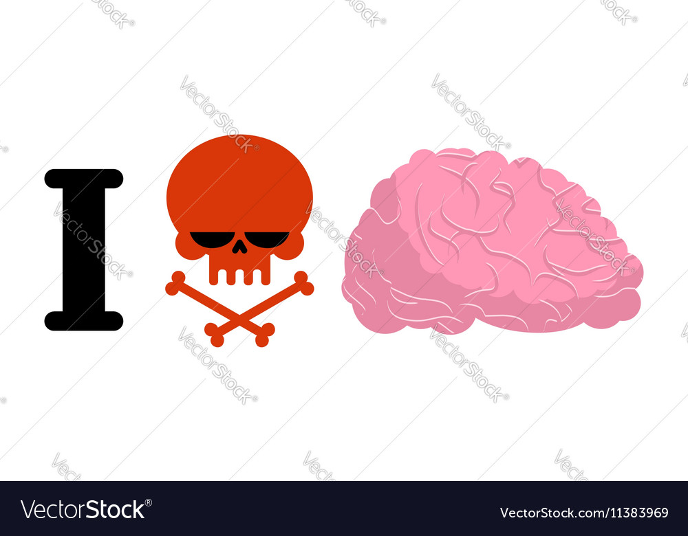 I hate to think Skull symbol of hatred and brain