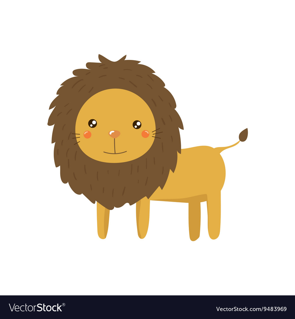 Lion Realistic Childish