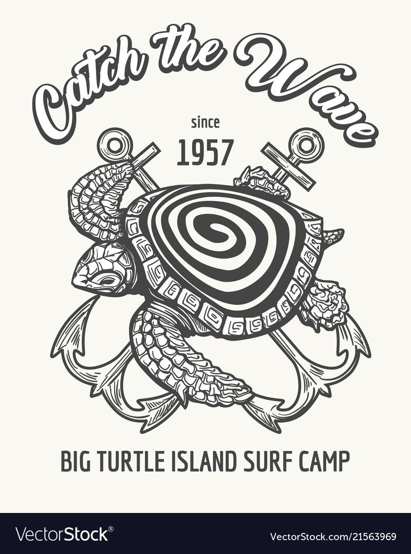 Surf camp emblem