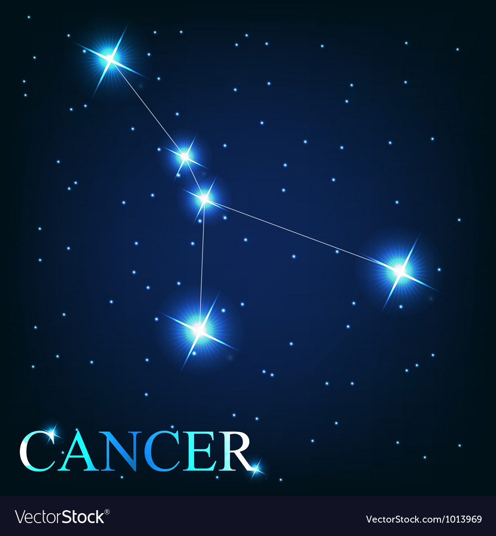 The cancer zodiac sign of the beautiful bright