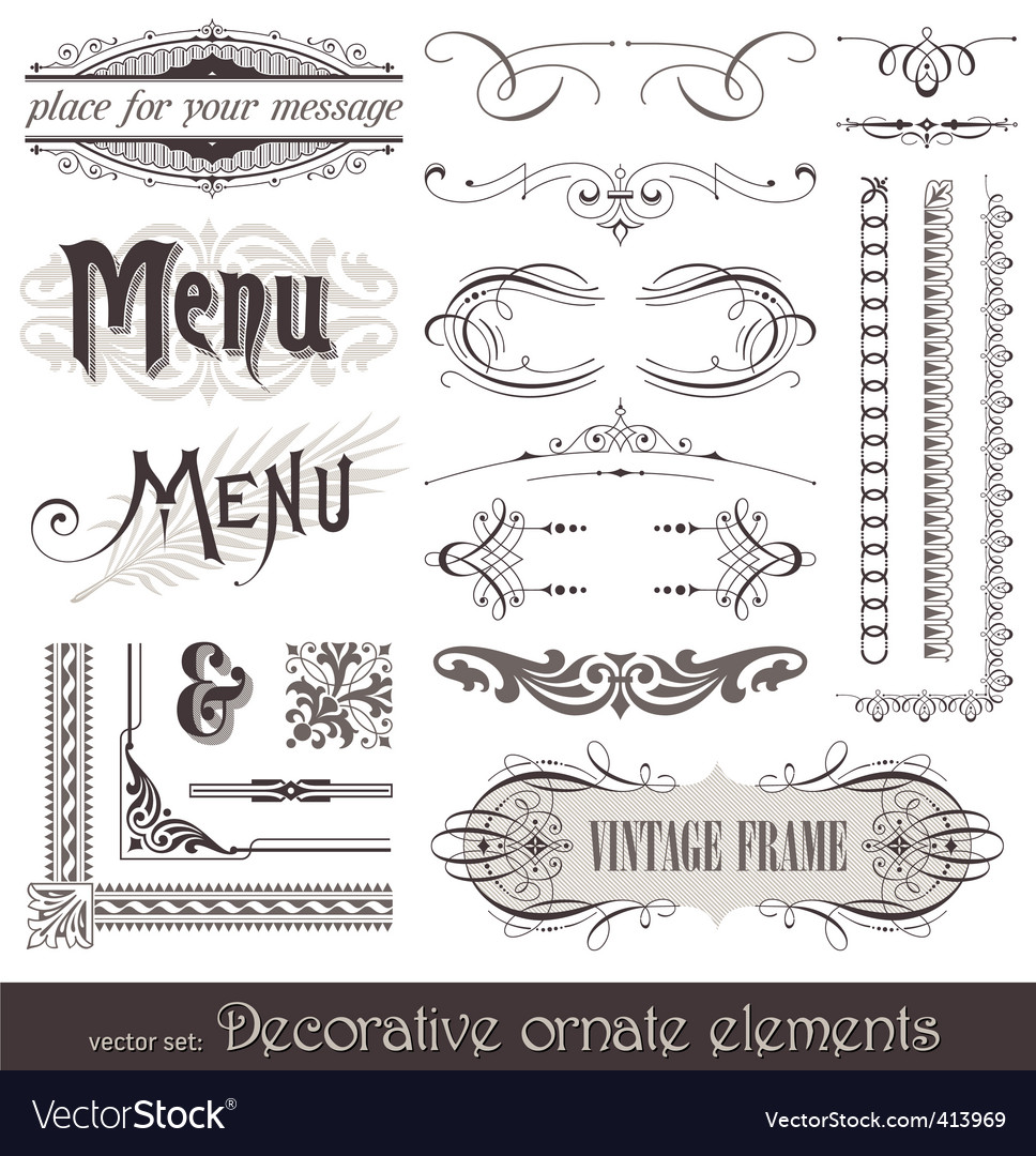 Vintage filigree elements