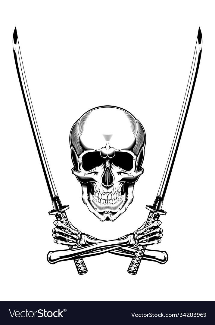 Vintage monochrome skull