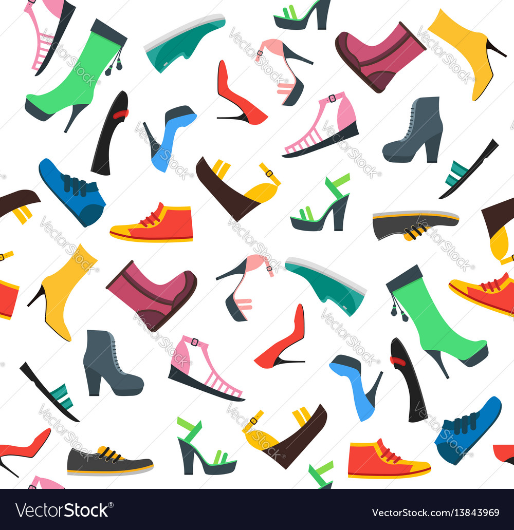 Woman shoes background pattern