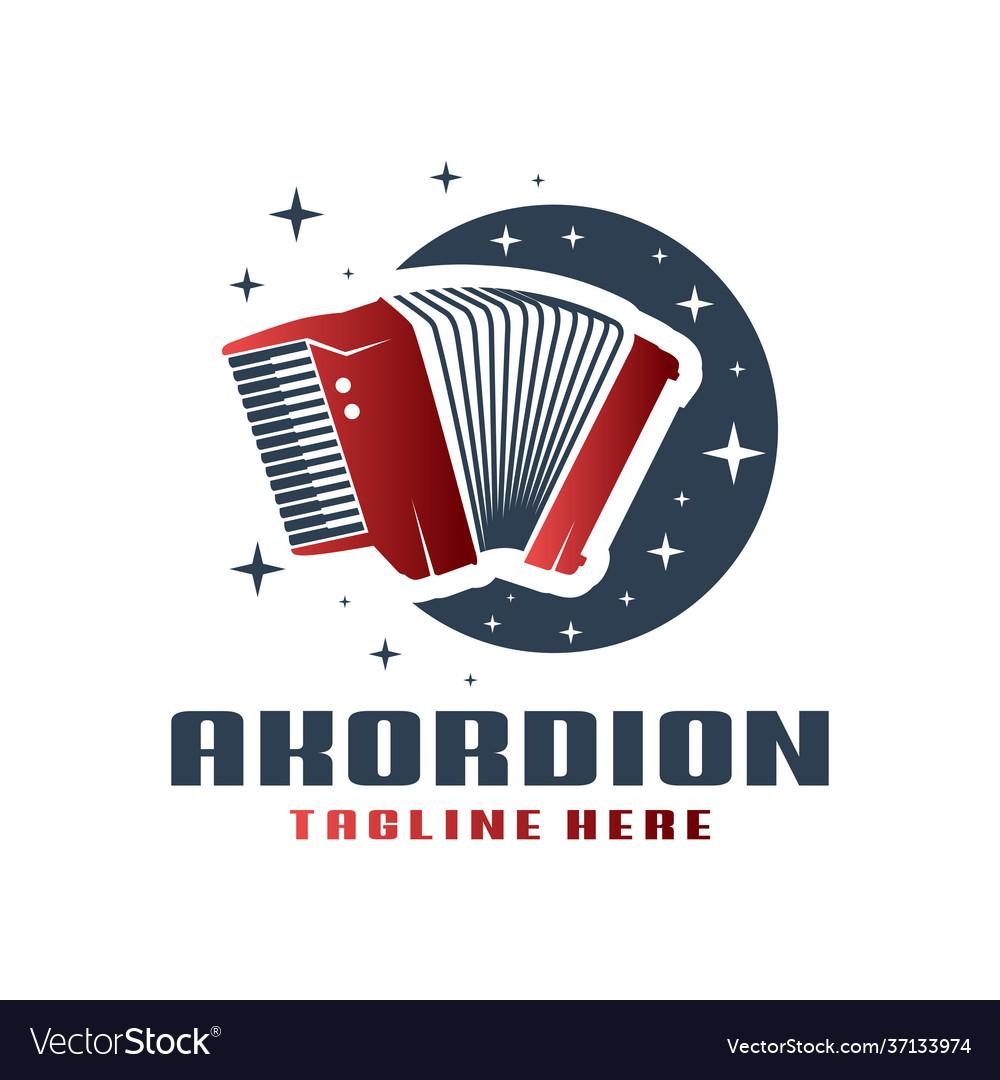 Accordion musical instrument logo
