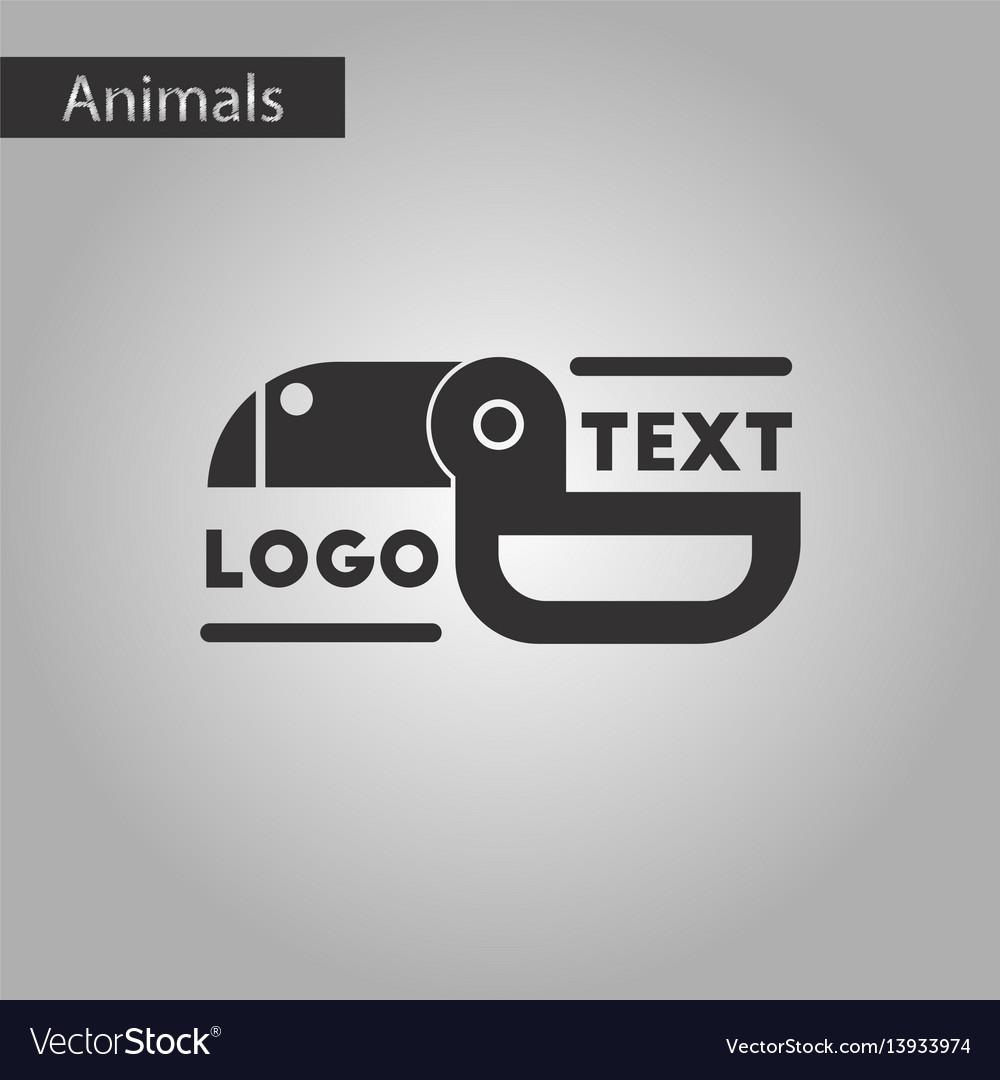 Black and white style icon bird logo vector image