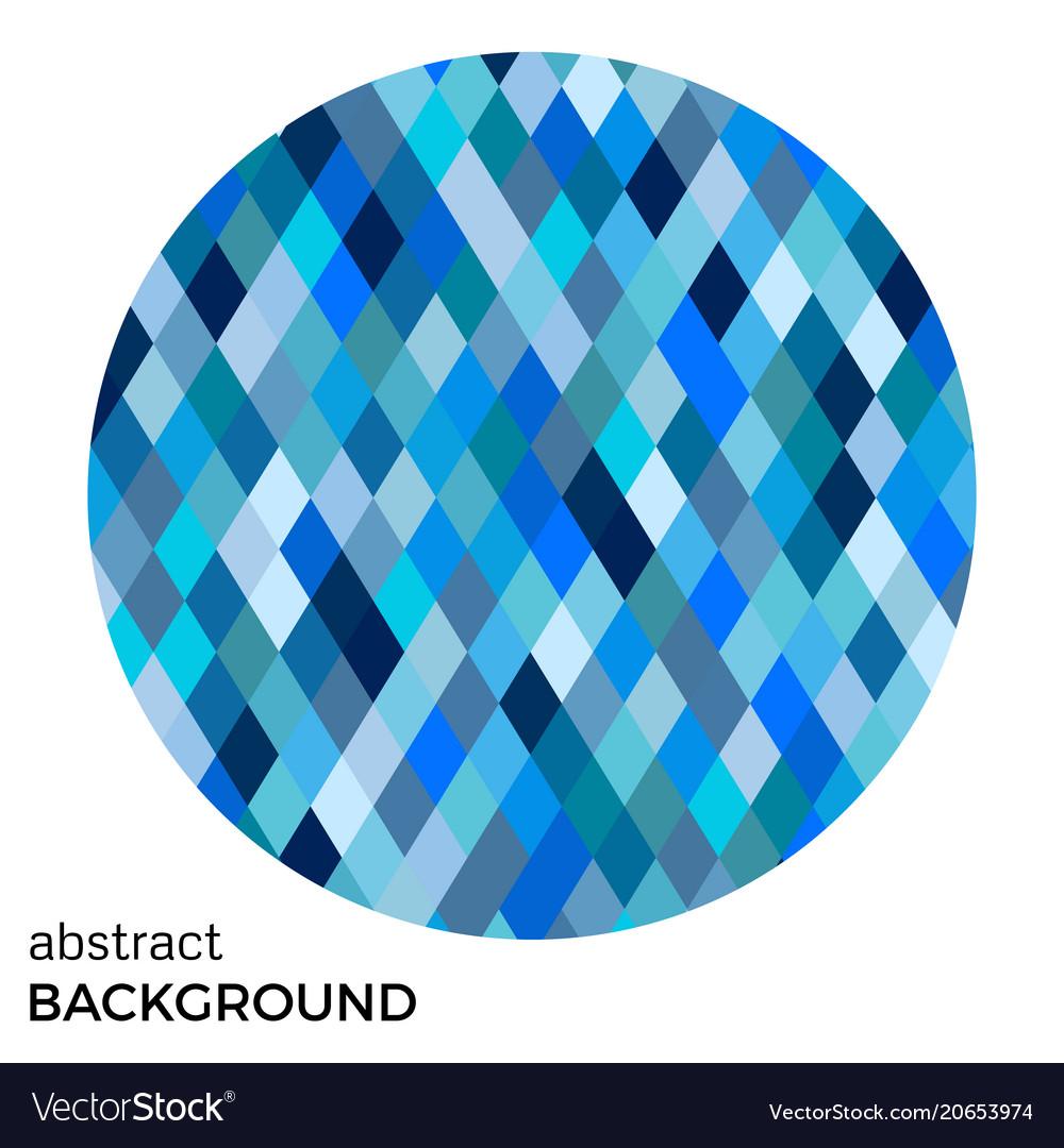 Blue circle of rhombuses