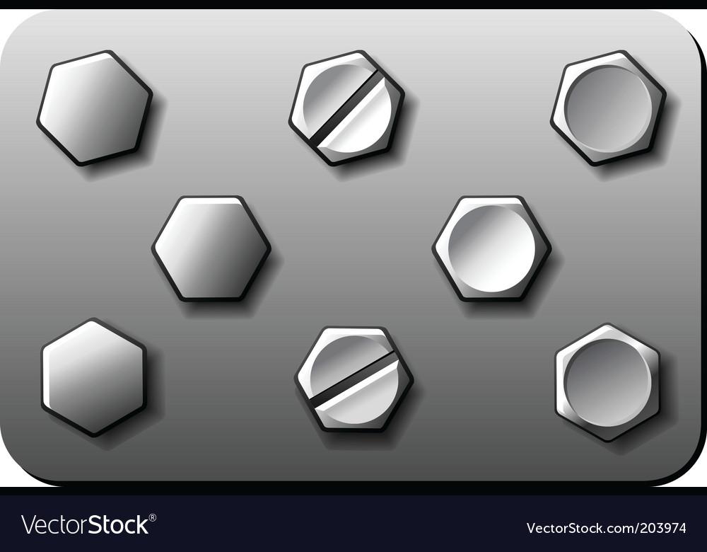 Bolt screw vector image