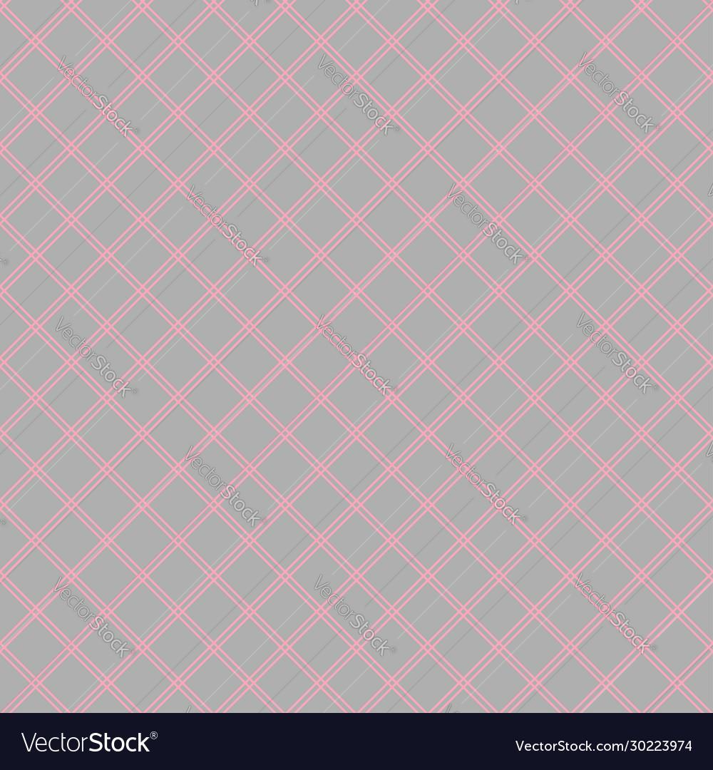 Seamless abstract diagonal grid squares gray