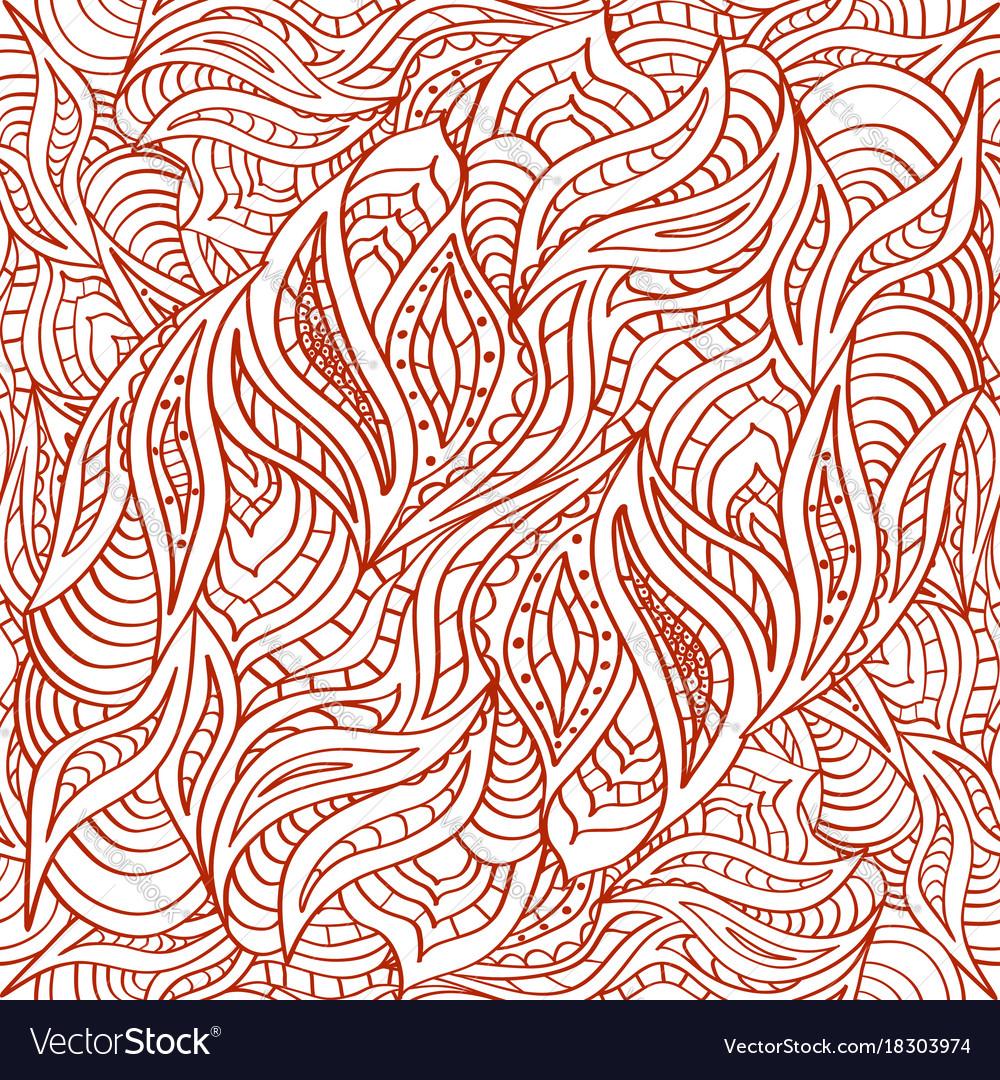 Seamless doodling pattern in ethnic oriental