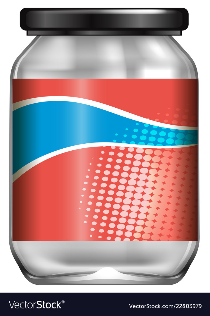 a jar with label design royalty free vector image