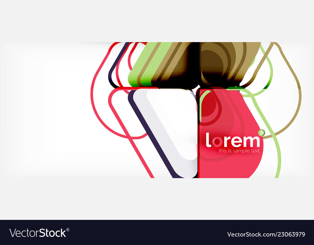 Abstract background multicolored geometric shapes