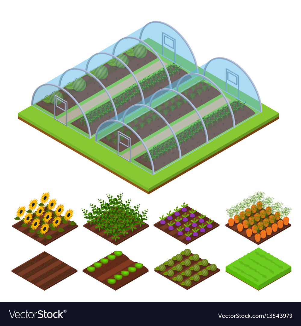 Greenhouse isometric view