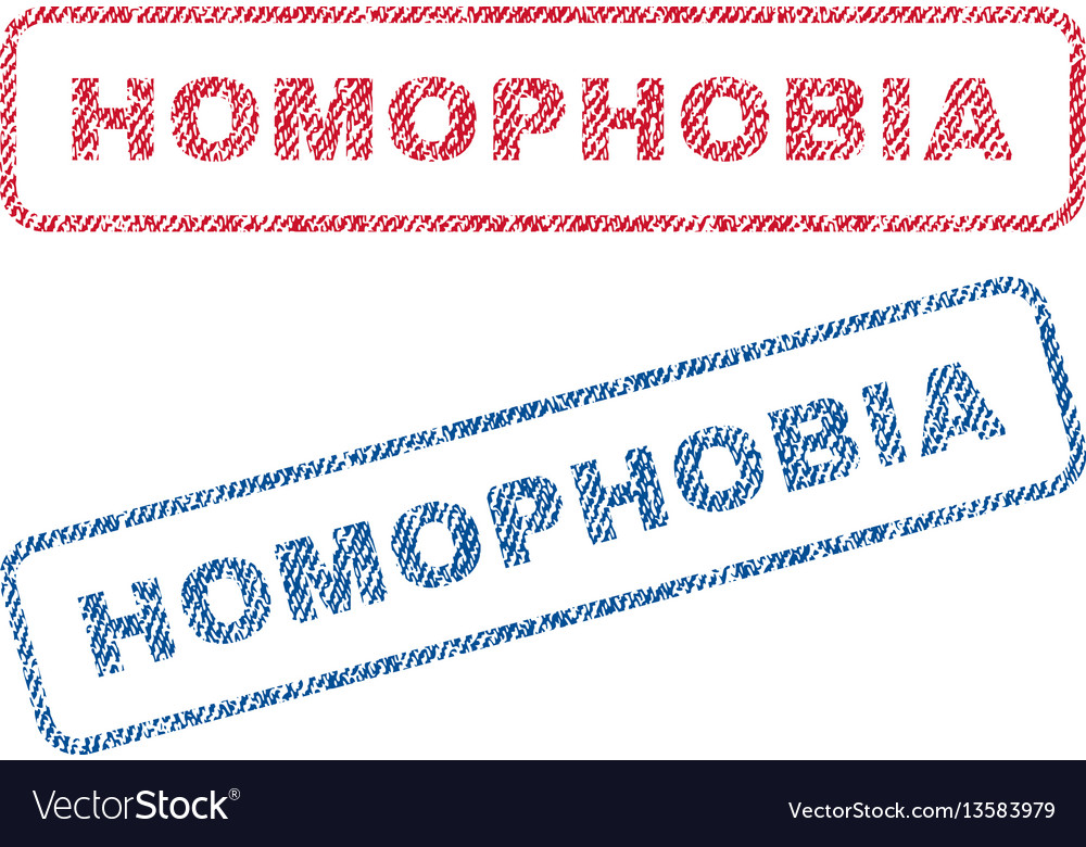Homophobia textile stamps