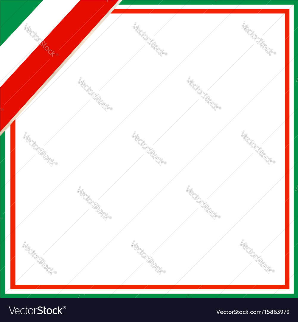 Italian flag square frame Royalty Free Vector Image