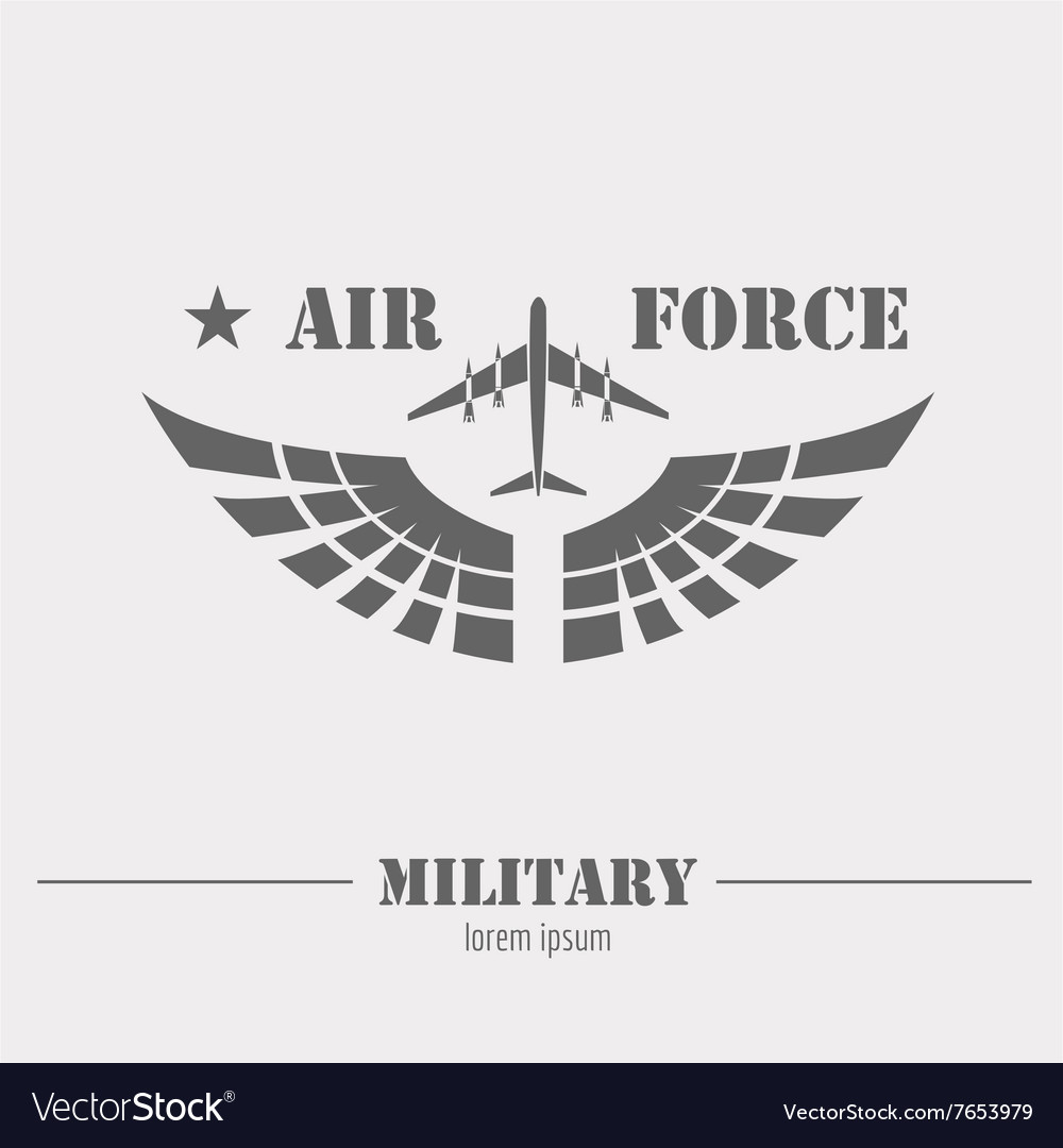 military logo and badge air force graphic template
