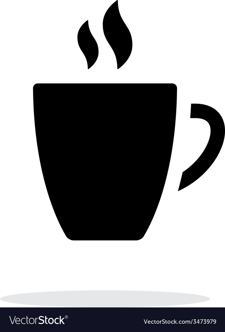 Mug simple icon on white background vector image