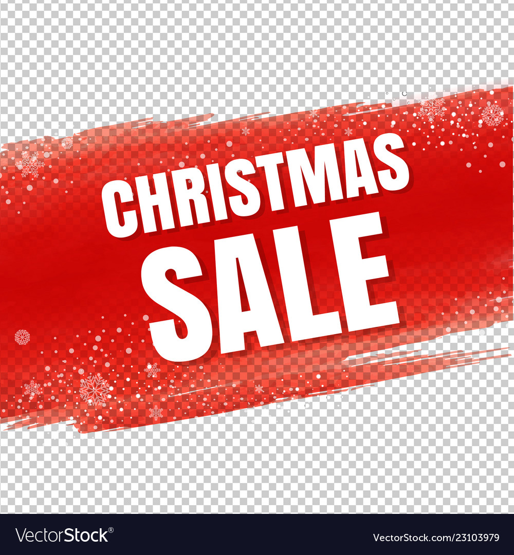 Red sale blot with snowflake transparent