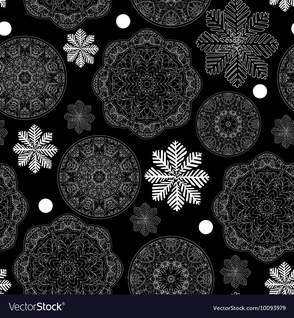 Rustic Winter Seamless Pattern For Scrapbook Paper
