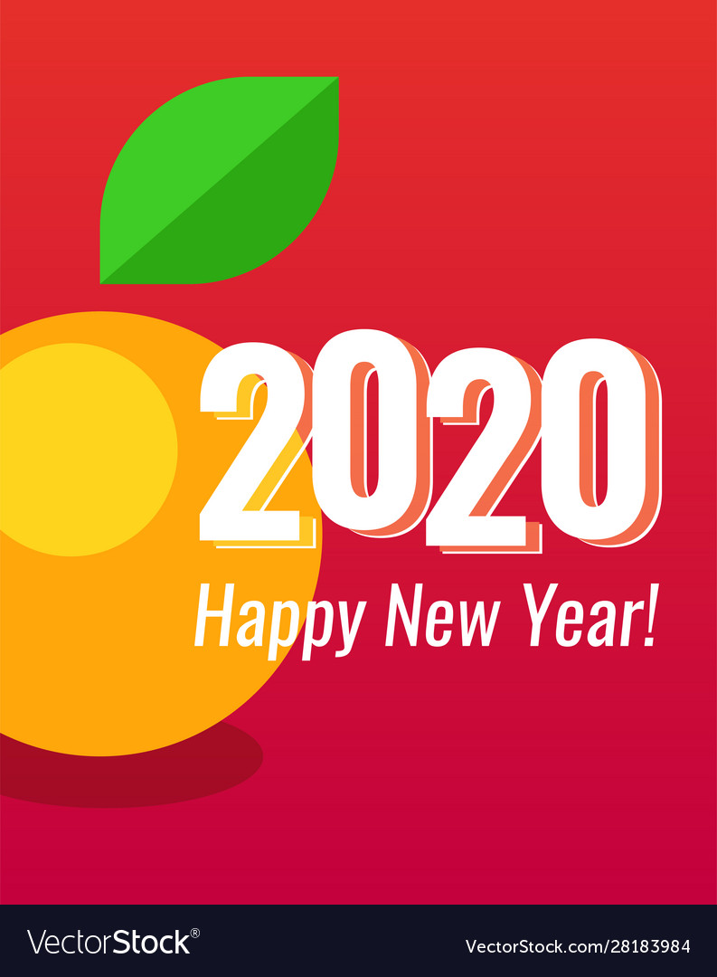 2020 happy new year poster vertical orientation