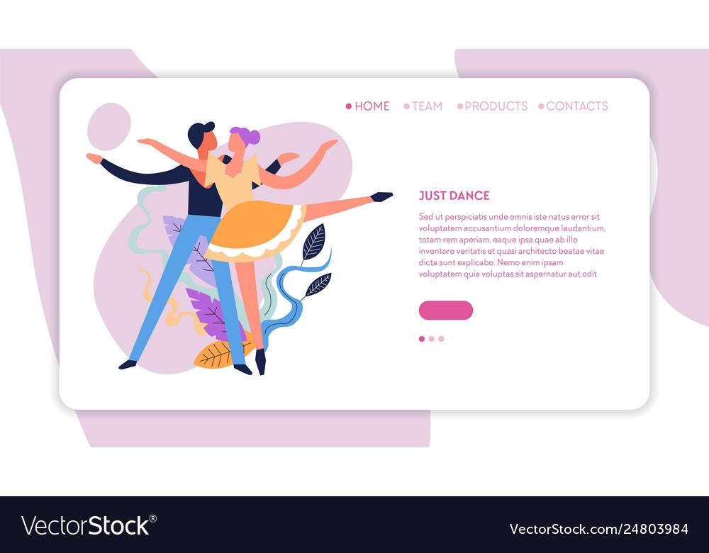 Dance classes online web page template ballroom