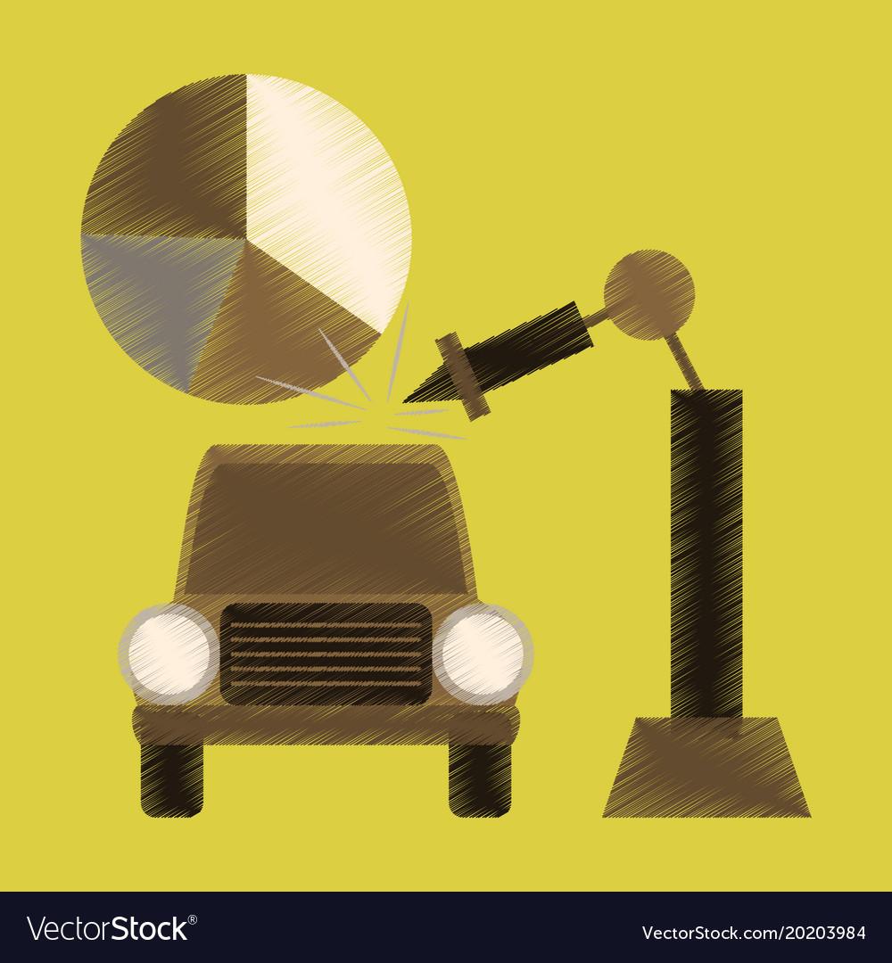 gas car icon flat style