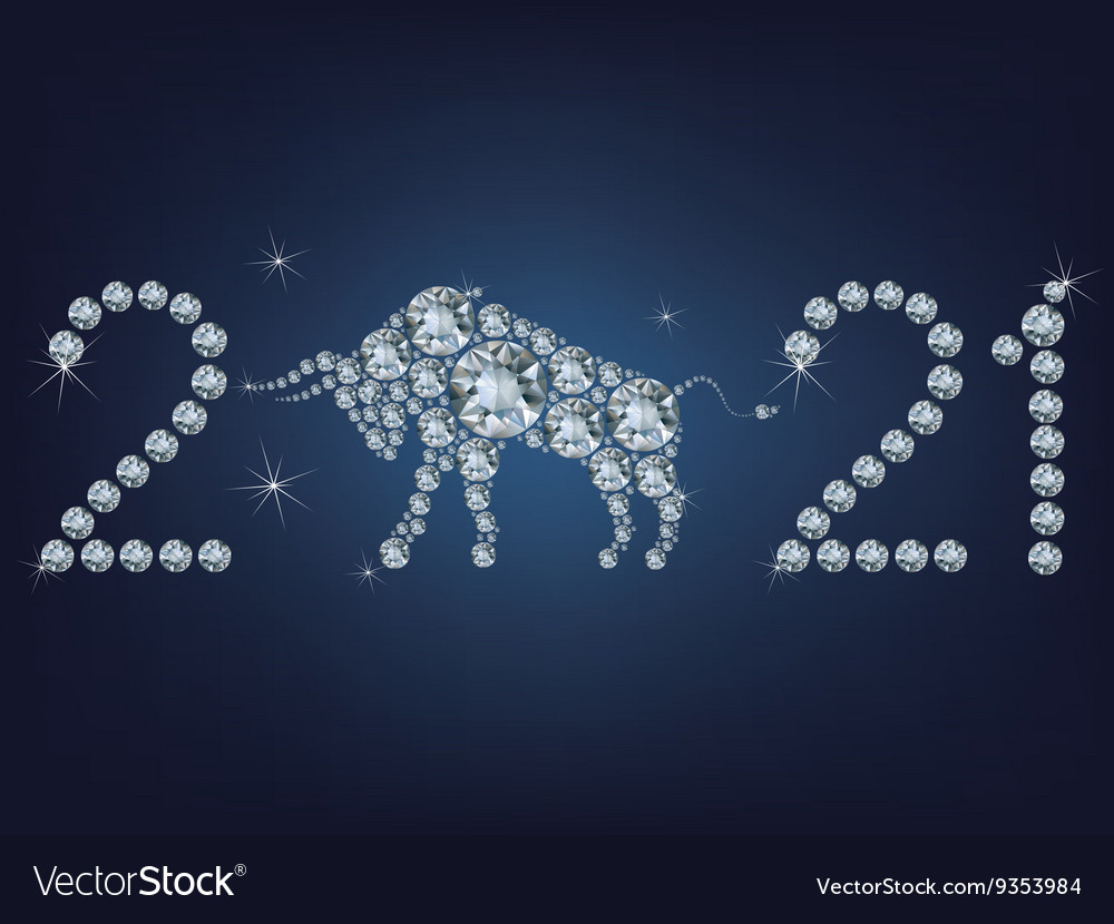 Happy new year 2021 creative greeting card Vector Image