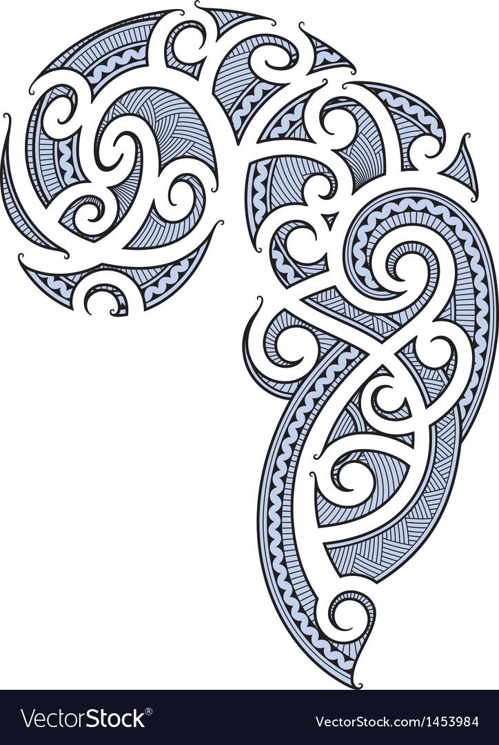 1e0d962c70eb1 Maori tattoo design Royalty Free Vector Image - VectorStock