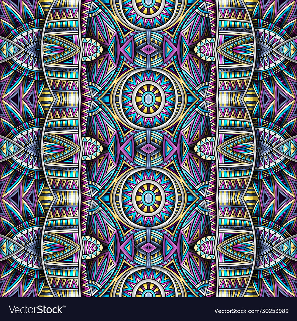 Abstract ethnic rug ornamental seamless pattern