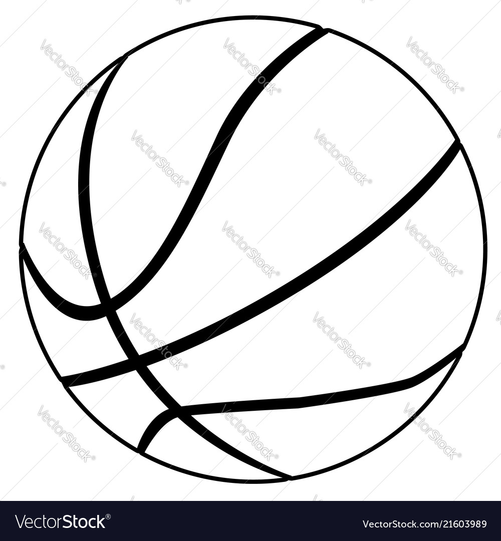 Black And White Basketball Royalty Free Vector Image