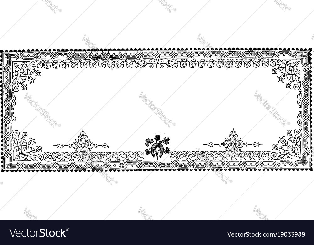 Filigree banner is a three pattern border vintage
