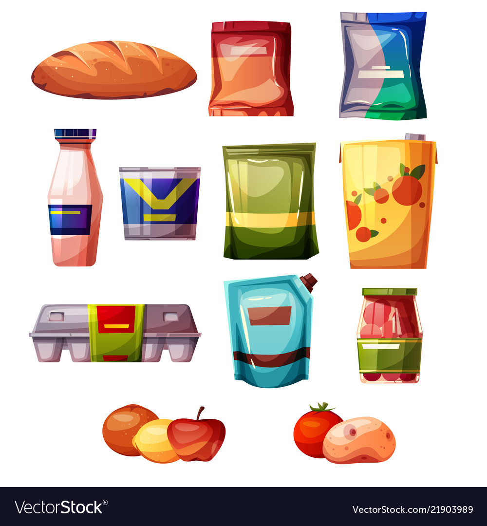 Grocery products supermarket