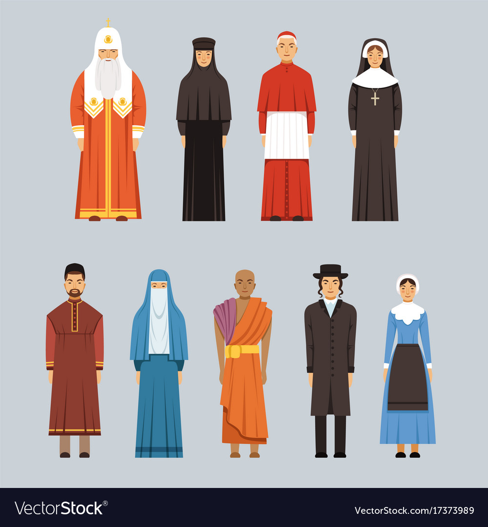 Religion people set men and women of different