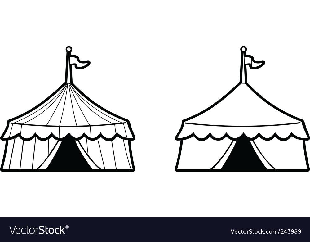 Two circus tents vector image