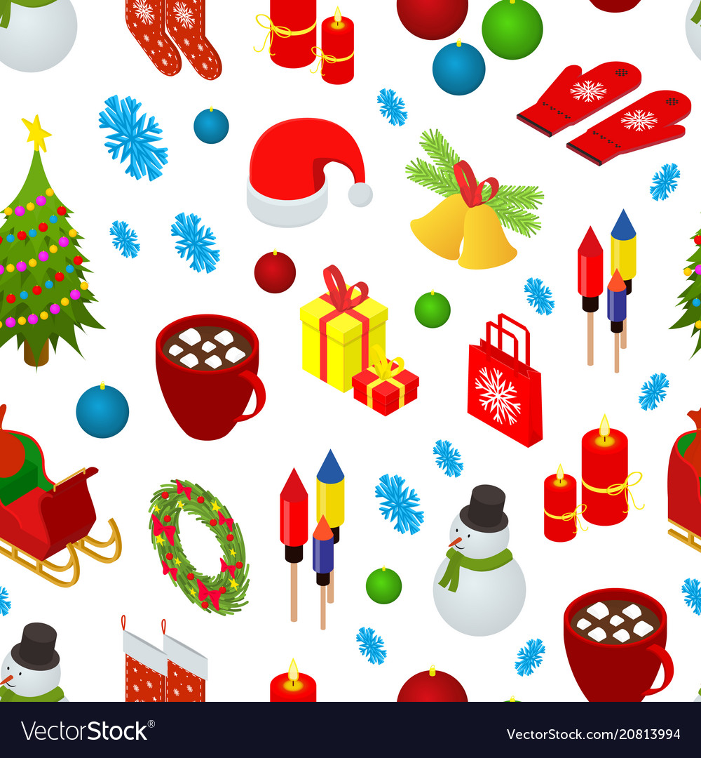 Christmas celebration seamless pattern background