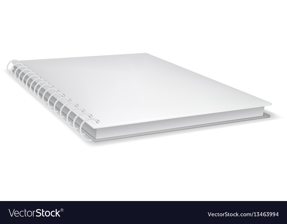 Closed notebook icon realistic style