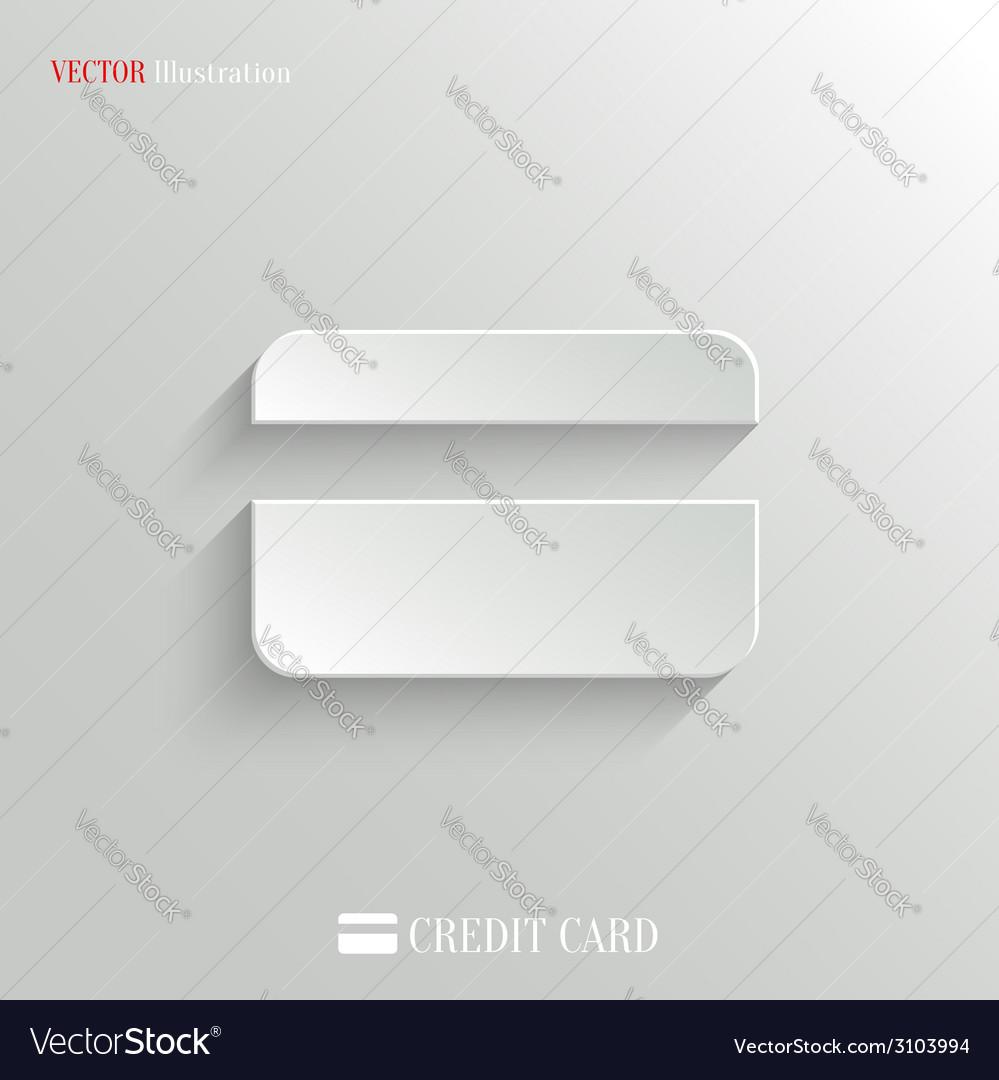 Credit card icon - white app button