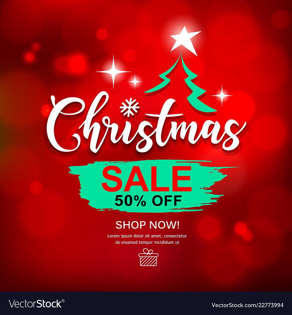 2d7507e29af4 Merry christmas sale brush stroke design Vector Image