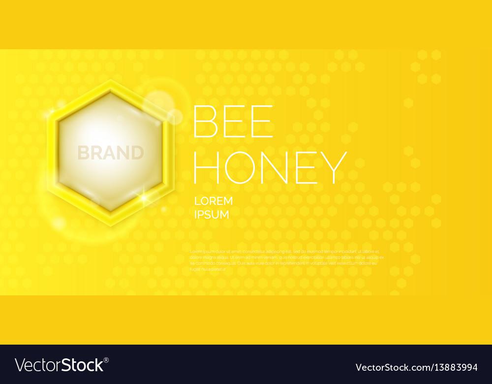 Modern poster for sale honey template