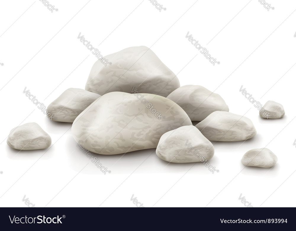 Pile of stones vector image
