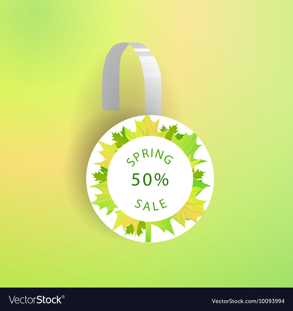 Wobbler Mockup With Transparent Strip Royalty Free Vector