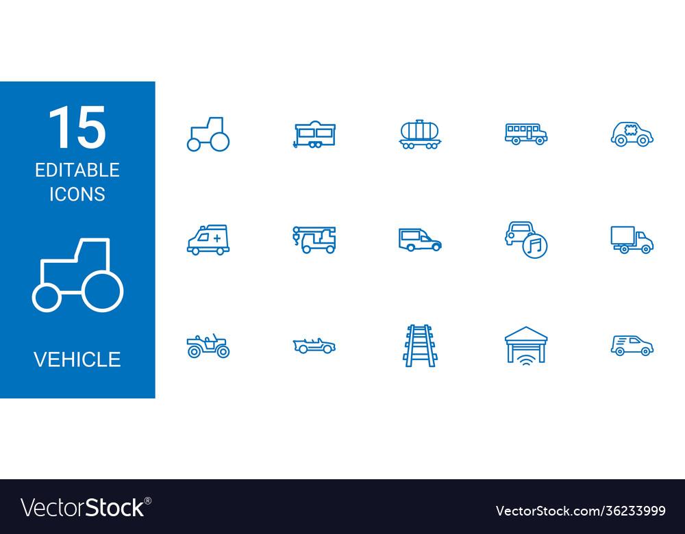 15 vehicle icons