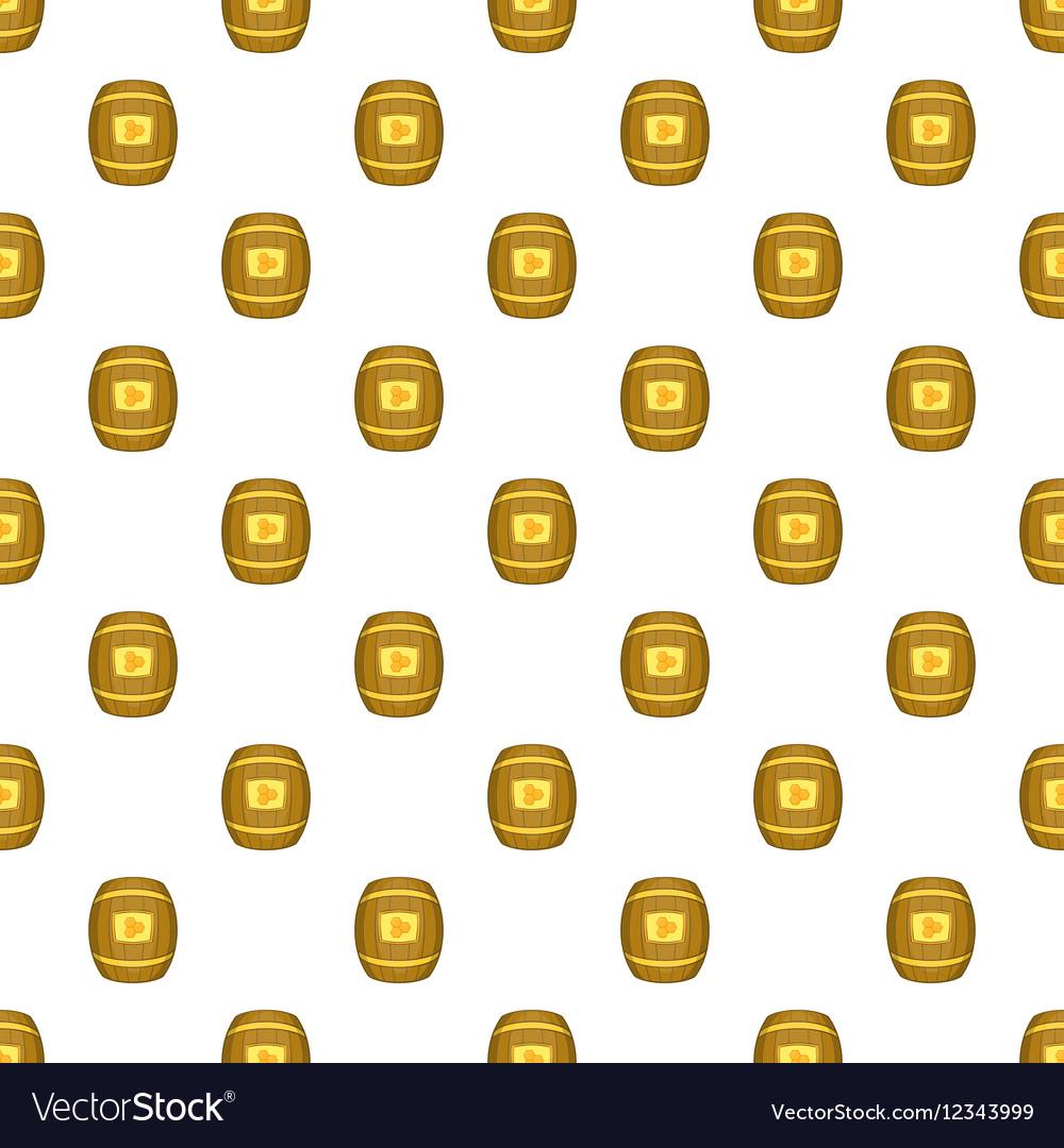 Barrel of honey pattern cartoon style