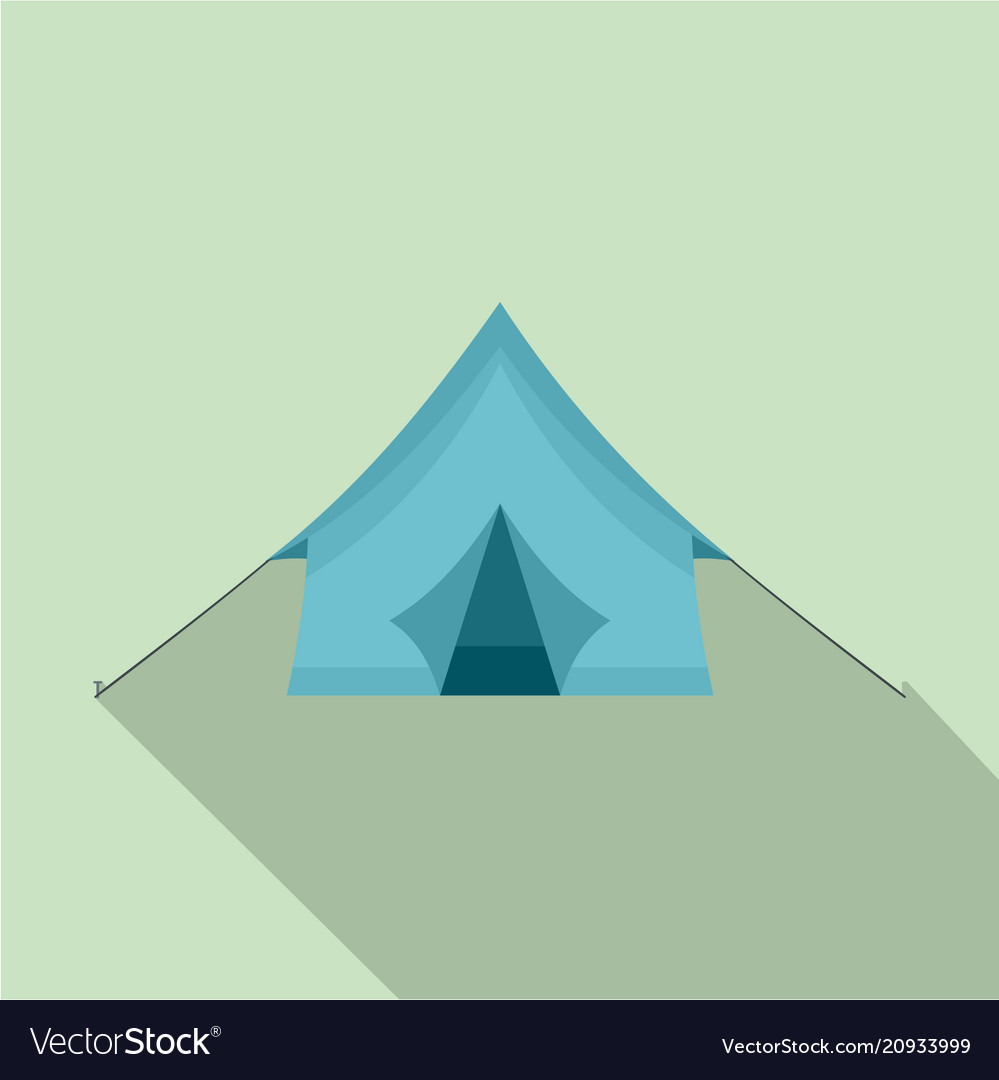 Camp tent icon flat style vector image